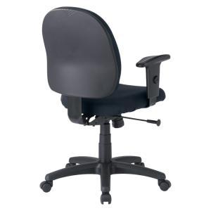 パソコン用オフィスチェア 肘あて付き 長時間のパソコン作業でも疲れにくいチェア 黒椅子(即納)|sanwadirect|02