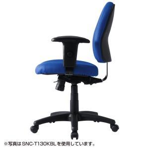 パソコン用オフィスチェア 肘あて付き 長時間のパソコン作業でも疲れにくいチェア 黒椅子(即納)|sanwadirect|07