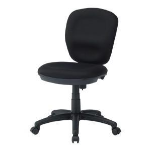 ミドルバックオフィスチェア ブラック 大きな座面と背もたれ、ロッキング機能付き 黒椅子(即納)|sanwadirect
