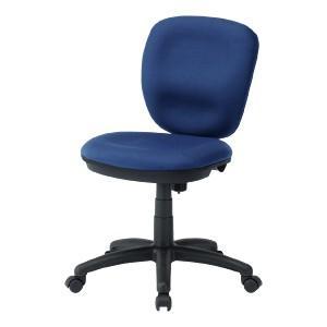 ミドルバックオフィスチェア ブルー 大きな座面と背もたれ、ロッキング機能付き(即納)|sanwadirect