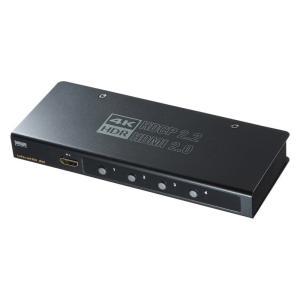 HDMI切替器 4入力1出力 4K HDR HDCP2.2対応(SW-HDR41H)(即納)|sanwadirect