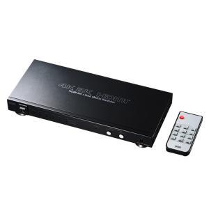 HDMIセレクター 4K/60Hz対応 6入力2出力 マトリックス切替機能 リモコン付き(SW-UHD62)(即納)|sanwadirect