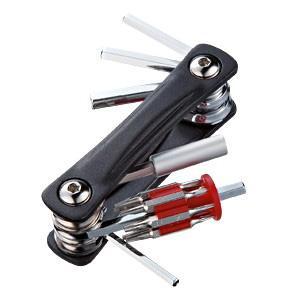 折りたたみツールキット 六角レンチ充実タイプ ビット ハンドツールセット 19種付属(TK-018)(即納)|sanwadirect