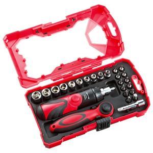 ドライバー工具セット ラチェットハンドル付き 26点 セット ハンドツールセット(即納)|sanwadirect