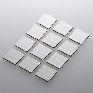 ノートパソコン冷却 放熱パット 17mm 角型 12枚入り シルバー(TK-CLNP12SV)(即納)|sanwadirect