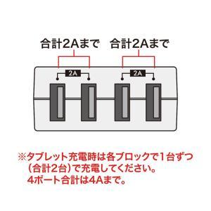 コンセント付USB充電器 スイング 4ポート 4A ホワイト(TR-AD3USBW)(即納)|sanwadirect|08
