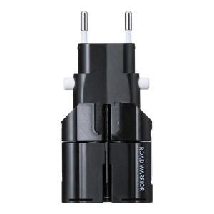 海外コンセント変換アダプタ プラグ9タイプ対応 ブラック(TR-AD4BK)