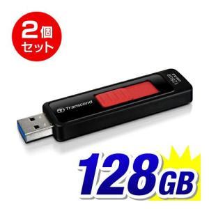USBメモリ 128GB USB3.0 スライドコネクタ Transcend社製 2個セット TS128GJF760 5年保証(即納)|sanwadirect