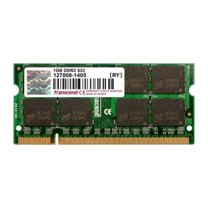 Transcend ノートPC用増設メモリ 1GB DDR2-533 PC2-4200 SO-DIMM トランセンド 永久保証(TS128MSQ64V5J)|sanwadirect
