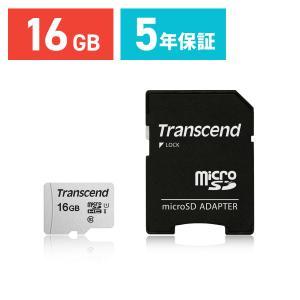 microSDHCカード 16GB マイクロSD  Class10 UHS-I  SD変換アダプタ付き TS16GUSD300S-A|sanwadirect