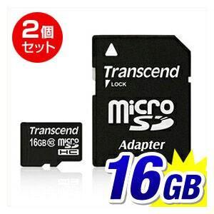 microSDカード マイクロSD 16GB Class10  2個セット|sanwadirect