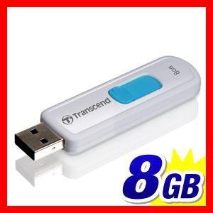 USBメモリ 8GB スライドコネクタ Transcend 5年保証(TS8GJF530)(即納)|sanwadirect