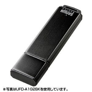 USBメモリ 2GB オリジナル ノベルティに USB メモリー ブラック(2G)(UFD-A2G2BKK)(即納)|sanwadirect