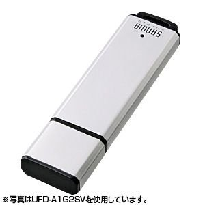 USBメモリ 2GB オリジナル ノベルティに USB メモリー シルバー(2G)(UFD-A2G2SVK)(即納)|sanwadirect