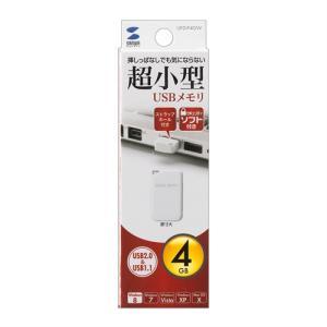 USBメモリ4GB USB2.0 超小型 ホワイト(UFD-P4GW)(即納)|sanwadirect|06