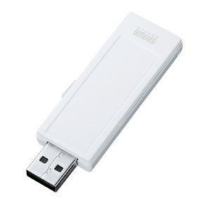 USBメモリ 4GB オリジナル ノベルティに USB メモリー メモ、ストラップ対応(4G)(UFD-RNS4GW)(即納)|sanwadirect