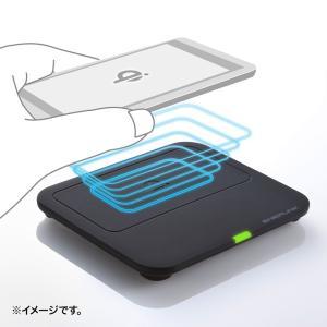 ワイヤレス充電パッド Qi準拠 スマホ 置くだけ 充電器 Galaxy S8/S8+対応 (WLC-PAD12BK)(即納)|sanwadirect|02