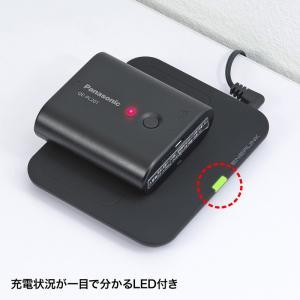 ワイヤレス充電パッド Qi準拠 スマホ 置くだけ 充電器 Galaxy S8/S8+対応 (WLC-PAD12BK)(即納)|sanwadirect|04