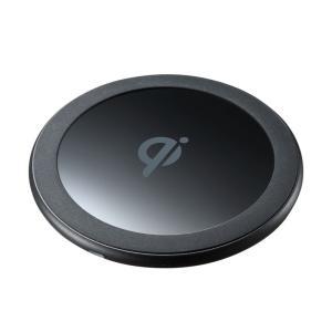 ワイヤレス充電器 置くだけ充電 Qi(WLC-PAD14BK)(即納)|sanwadirect