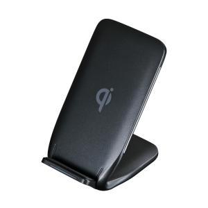 ワイヤレス充電スタンド Qi対応 ブラック(WLC-STN13BK)(即納)|sanwadirect