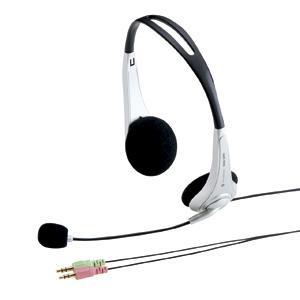 アウトレット スカイプ Skype ヘッドセット ヘッドホン 両耳タイプ ノイズキャンセルマイク CAI教室向き アウトレット わけあり 訳ありMM-HS509NC|sanwadirect