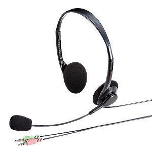 アウトレット マルチメディアPCヘッドセット ブラック アウトレット わけあり 訳ありMM-HS515BK|sanwadirect