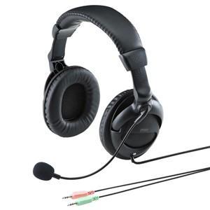 アウトレット PC用ヘッドセット 大型イヤーパッド アウトレット わけあり 訳あり(MM-HS524BK)|sanwadirect