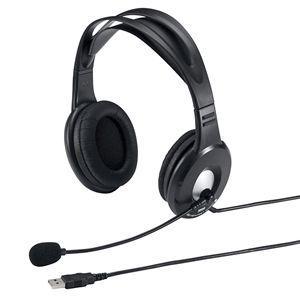 アウトレット USBヘッドセット ブラック アウトレット わけあり 訳あり(MM-HSUSB7BK)|sanwadirect