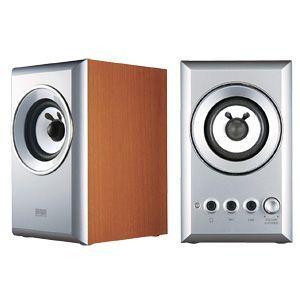 アウトレット スピーカー アイポッド iPod 対応 PCスピーカー ミニプラグ接続 木製 2ch 6W シルバー アウトレット わけあり 訳ありMM-SPWD2SV|sanwadirect