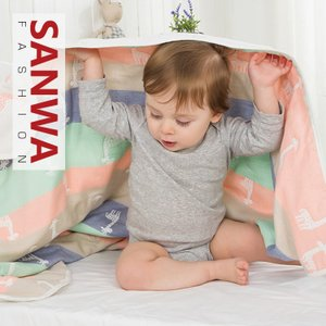 赤ちゃん おくるみ ベビー タオルケット ブランケット バスタオル  柔らかい  ふんわり  ふわふわ ガーゼタオル?湯上りタオル|sanwafashion