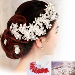 お嫁さん 髪飾り かんざし 花嫁 レディース ヘアアクセサリー  ウェディング 結婚式 髪留め ヘッドアクセ 結婚式 入学式|sanwafashion