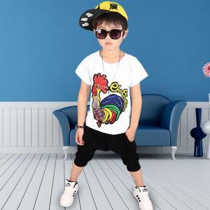 上下セット 2点セット 男の子 キッズ ジュニア 子供服 夏 セットアップ  薄手 可愛い 運動|sanwafashion