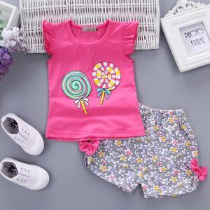上下セット 2点セット 女の子 キッズ ジュニア 子供服 夏 セットアップ  薄手 可愛い 運動|sanwafashion