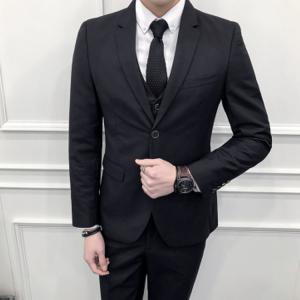 セットアップ メンズ スーツ フォーマル スリーピース スリム 無地 ワンボタン テーラード ビジネススーツ スラックス 通勤 結婚式 紳士服 sanwafashion