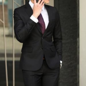 セットアップ メンズ スーツ フォーマル ツーピース 2点セット 二つボタン スリム テーラード ビジネススーツ スラックス 通勤 結婚式 紳士服 sanwafashion