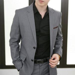 セットアップ メンズ スーツ フォーマル ツーピース 2点セット 二つボタン 無地 スリム テーラード ビジネススーツ スラックス 通勤 結婚式 紳士服 sanwafashion