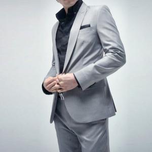 セットアップ メンズ スーツ フォーマル ツーピース 2点セット ワンボタン シンプル 無地 スリム テーラード ビジネススーツ スラックス 通勤 結婚式 紳士服|sanwafashion