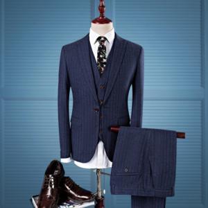 セットアップ メンズ スーツ フォーマル スリム スリーピース ワンボタン ストライプ テーラード ビジネススーツ スラックス 通勤 結婚式 紳士服 sanwafashion