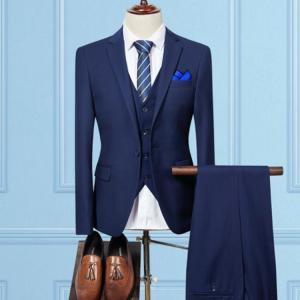 セットアップ メンズ スーツ フォーマル スリム スリーピース ワンボタン おしゃれ トレンド テーラード ビジネススーツ スラックス 通勤 結婚式 紳士服|sanwafashion