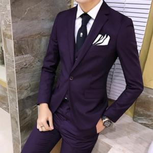 セットアップ メンズ スーツ フォーマル スリム スリーピース 無地 ワンボタン おしゃれ トレンド テーラード ビジネススーツ スラックス 通勤 結婚式 紳士服 sanwafashion