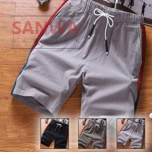 ショートパンツ メンズ ハーフパンツ 春 夏  ゴムウェスト メンズ短パン ボトムス カジュアル 涼しい ショーツ 部屋着 トレーニング 吸汗速乾 大きいサイズ|sanwafashion