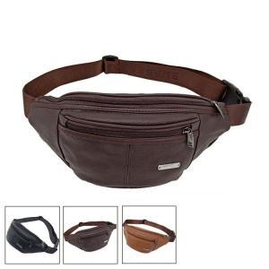 ウエストバッグ メンズ 牛革 レザー 2way ボディバッグ こし掛け 腰かけ ヒップバッグ 鞄 ミニショルダーバッグ ウエストポーチ|sanwafashion