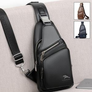 ボディバッグ メンズ 本革 2way 縦型 斜め掛け ショルダーバッグ   自転車 鞄 レザー ワンショルダー カジュアル 機能性|sanwafashion