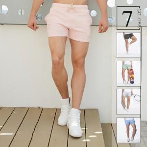 ハーフパンツ メンズ 無地    ストレッチ   吸汗速乾     夏 半ズボン 短パン スウェット ショートパンツ スポーツパンツ イージーパン|sanwafashion