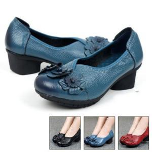 本革  パンプス レディース 靴   ローヒール フラット レディース 婦人靴 シューズ 大きいサイズ 小さいサイズ 美脚 通勤 フォーマル|sanwafashion