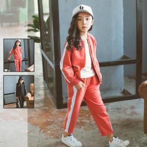キッズジャージ ジャージセット 子供服 上下セット 2点セット 女の子 パーカー スポーツウェア セットアップ スウェット|sanwafashion