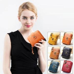 二つ折り財布 レディース 財布 サイフ ウォレット ビンテージ   おしゃれ  トレンド   wallet 大収納 大容量 多機能 カード入れ コンパクト 可愛い|sanwafashion