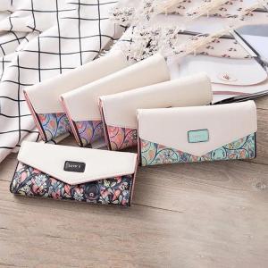 新入荷  長財布 レディース 小銭入れ カード入れ サイフ おしゃれ   多機能   プリント     wallet   コンパクト 安い レザーサイフ 人気 大容量 可愛い|sanwafashion