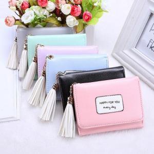 三つ折り財布 新入荷 財布 レディース 小銭入れ カード入れ サイフ 韓国風    シンプル   おしゃれ    wallet  コンパクト 安い 人気 大容量 可愛い|sanwafashion