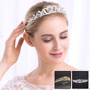 ティアラ 王冠 お姫様  髪飾り クラウン お嫁さん 花嫁 レディース ヘアアクセサリー  髪留め ヘッドアクセ ウェディング 結婚式 |sanwafashion